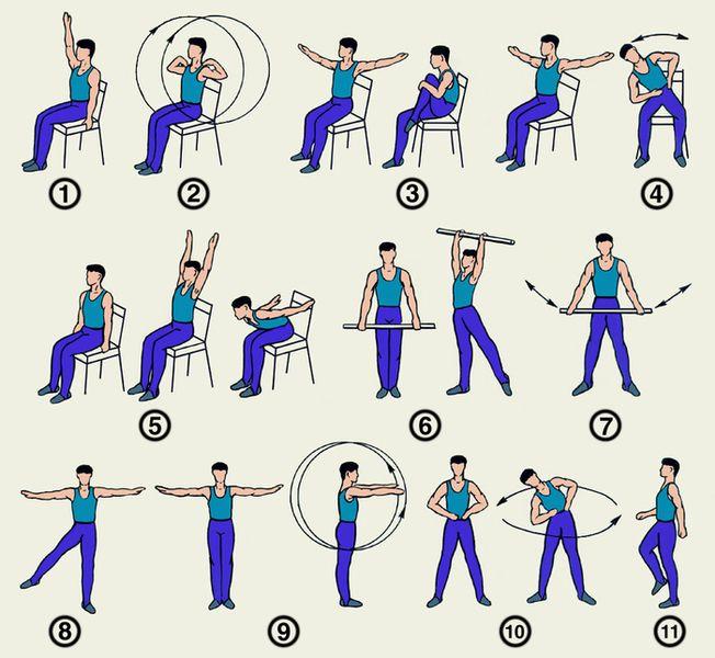 Фото: Упражнения при повышенном АД