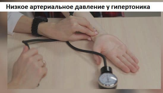 Упало артериальное давление у человека