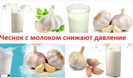 Чеснок с молоком от давления повышенного