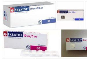 таблетки от давления Экватор